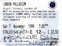 London Palladium ticket with Bill Nighy autograph